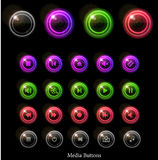 Neon glossy web buttons Stock Images