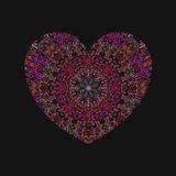 Neon glow of colorful heart for Valentine Stock Photos