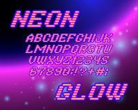 Neon glow font Royalty Free Stock Photo