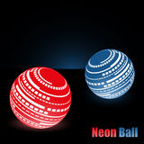 Neon glowing balls dark background stylish beautiful Royalty Free Stock Images