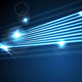 Neon glowing laser beams lines abstract background Stock Images