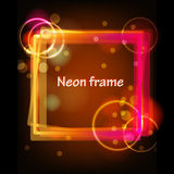 Neon Glowing Light Frame Vector Graphic Royalty Free Stock Photography