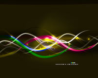 Neon glowing lines abstract background Royalty Free Stock Photo