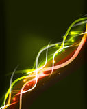 Neon glowing lines abstract background Royalty Free Stock Images