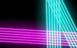 Neon glowing lines, magic energy space light concept, abstract background stock illustration