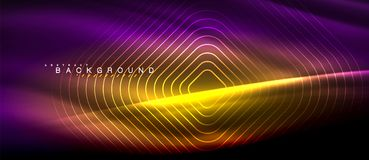 Neon glowing lines, magic energy space light concept, abstract background wallpaper design. Vector illustration vector illustration