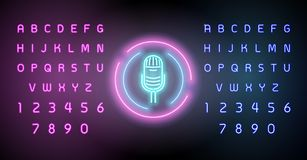 Neon glowing lines, music space concept, music background wallpaper design. editing text neon sign vector illustration