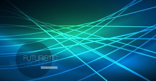 Neon glowing magic background, neon banner, night sky wallpaper. Magic light effect. Christmas abstract pattern. vector illustration