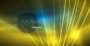 Neon glowing magic background, neon banner, night sky wallpaper. Magic light effect. Christmas abstract pattern. stock illustration