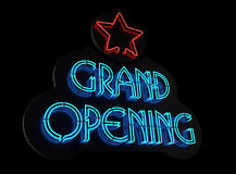 Neon Grand Opening II Stock Photos