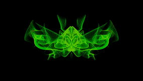 Neon green abstract wave lines stock video footage