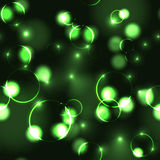 Neon green bokeh effect seamless pattern Stock Photography