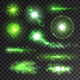 Neon green glitter bokeh lights and sparkles Royalty Free Stock Photography