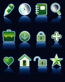Neon green icons Royalty Free Stock Photos