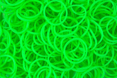Neon Green Loom Bands Stock Photo
