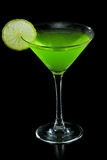 Neon green martini Royalty Free Stock Images