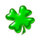 Neon Green Shamrock Image Stock Photo