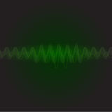Neon green sound wave vector. Neon green sound wave abstract vector Stock Photography