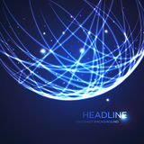 Neon grid globe background. Vector illustration Royalty Free Stock Photography