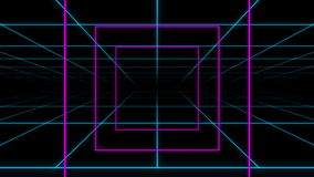 Neon Grid Square Loop Background