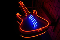 Neon Guitar Stock Photos