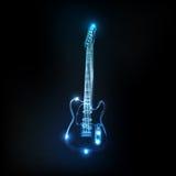 Neon guitar stock illustration