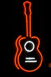 Neon guitar sign Royalty Free Stock Photo