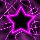neon gwiazda Obrazy Royalty Free