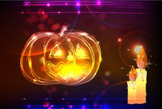 Neon Halloween background Stock Photography