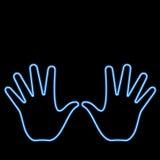 Neon hand Stock Image