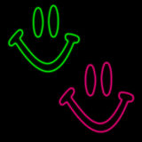 Neon happy faces Royalty Free Stock Photos