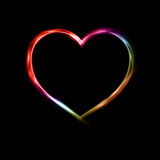 Neon Heart Royalty Free Stock Image