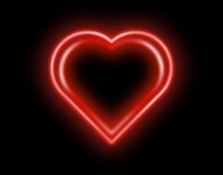 Neon Heart Royalty Free Stock Photo