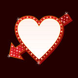 Neon heart royalty free illustration