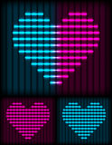 Neon heart background Royalty Free Stock Image