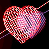 Neon heart Royalty Free Stock Photography