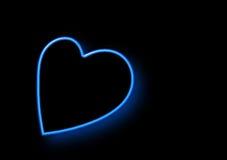 Neon Heart Shaped Royalty Free Stock Photos