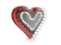 Neon heart symbol Stock Photography