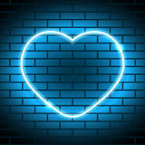 Neon heart Vector illustration Stock Photography
