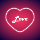 Neon heart Vector illustration Royalty Free Stock Photography