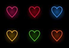 Neon heart2 Royalty Free Stock Photography