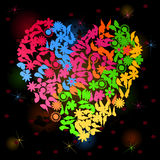 Neon heart3 Royalty Free Stock Images