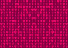 Neon hearts seamless background. Romantic blurred pink red vector illustration