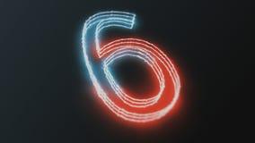 Neon het gloeien cijfers Stock Afbeelding