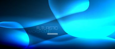 Neon hexagon background. Neon hexagon vector abstract background Royalty Free Stock Images