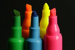 Neon Highlighters Stock Image