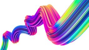 Neon holographic liquid wave shape for trendy Christmas design backgrounds and posters. Neon holographic liquid wave shape for trendy design backgrounds. Design stock illustration