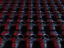 Neon horror heavy metal skulls Royalty Free Stock Photo