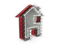 Neon house symbol Stock Images