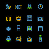Neon household appliances icon Royalty Free Stock Photo